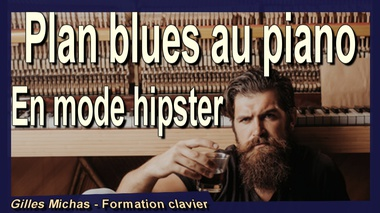 Plan blues au piano en mode hipster