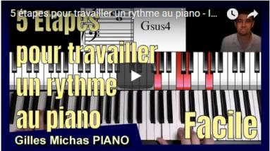 5 étapespour travailler le rythme au piano