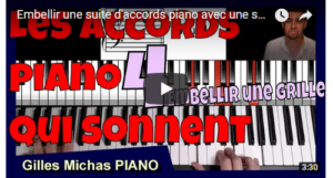Embellir une suite d'accords piano