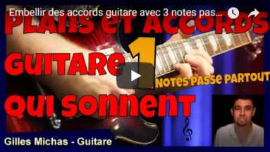 Embellir des accords guitare avec 3 notes passe partout ?
