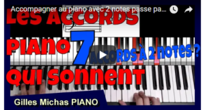 accompagner au piano avec 2 notes passe partout