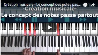 Création musicale - Le concept des notes passe partout