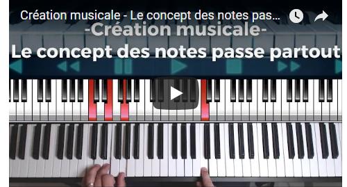 Création musicale – Le concept des notes passe partout
