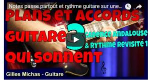 Notes passe partout et rythme guitare - Cadence andalouse 1