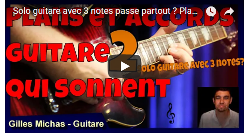 Solo guitare avec 3 notes passe partout ?