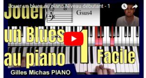 Jouer un blues au piano