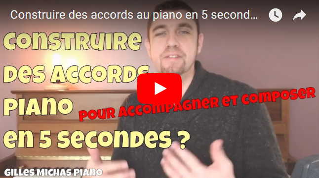 Accords piano en 5s pour accompagner