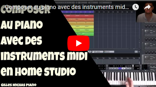 Composer au piano avec des instruments midi VST en univers home studio