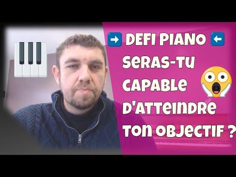 DEFI piano – Es-tu capable d'atteindre ton objectif de jeu
